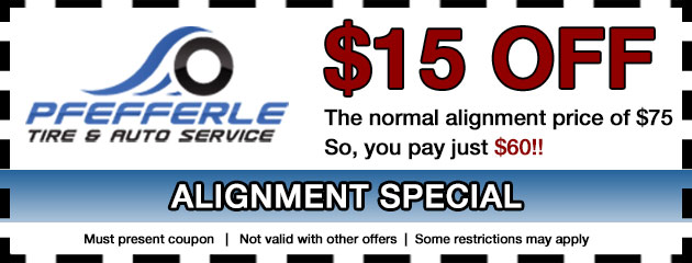 $15 Off The Normal Alignment Price Of $75