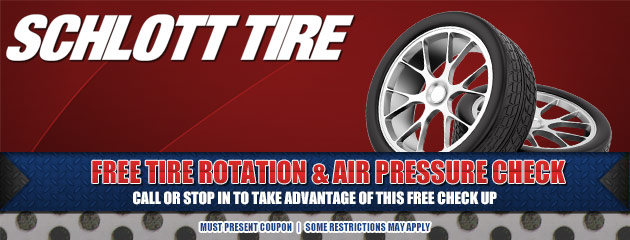 Free Tire rotation & air pressure check
