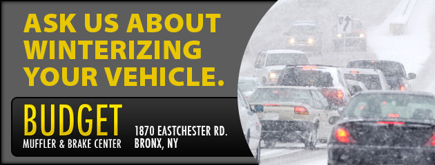 Ask us about winterizing your vehicle.