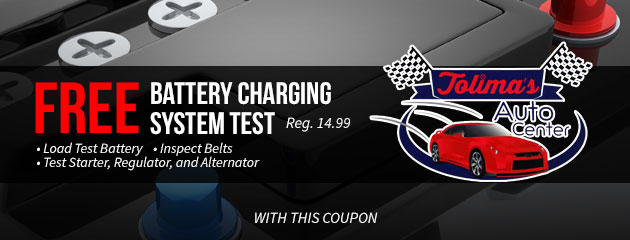 Free Battery Charging System Test Special