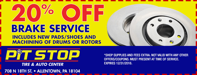 20% OFF BRAKE SERVICE COUPON