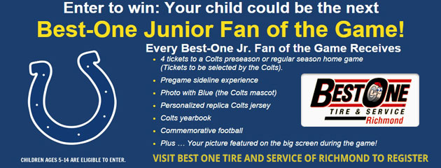Best-One Junior Fan of the Game - Register Now!
