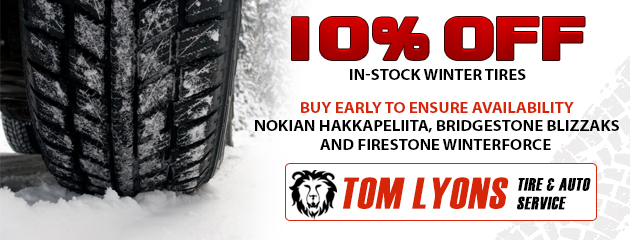 10% off In-Stock Winter Tires