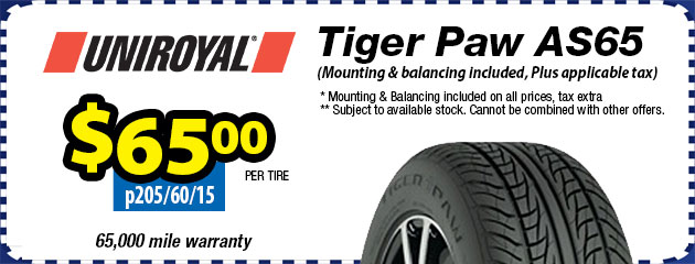 Uniroyal Tiger Paw AS65