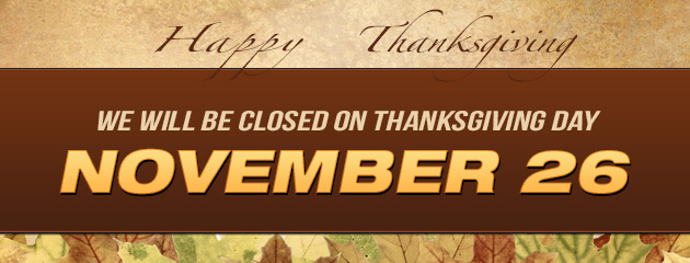 Closed Thanksgiving Day - PP
