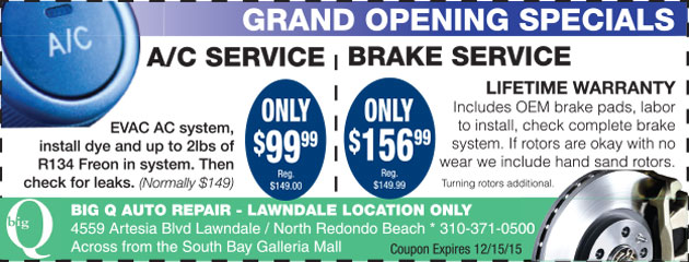 AC and Brake Specials