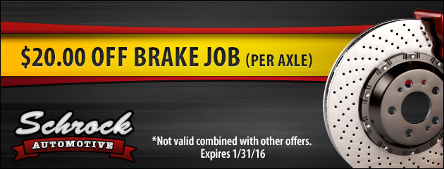 Save $20.00 On a Brake Job