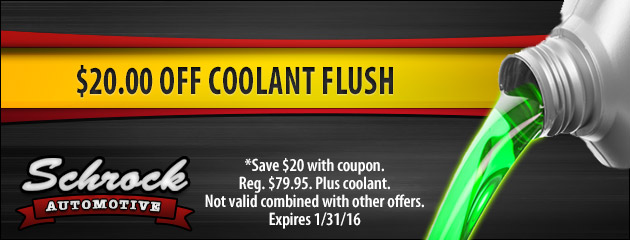 Save $20.00 On Coolant Flush