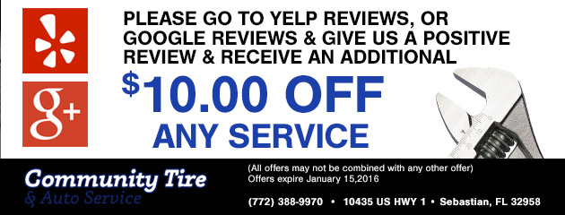 Yelp reviews, or google reviews & receive an additional $10.00 off any service