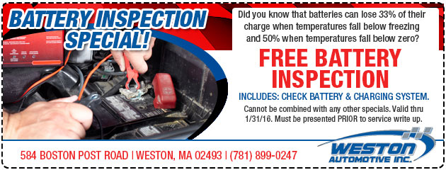 Battery Inspection Special Dec/Jan