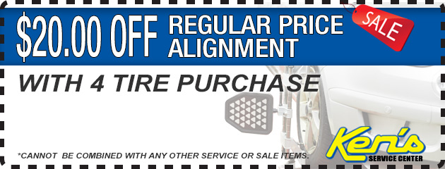 $20 off an Alignment