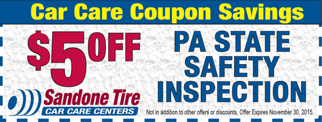 $5 Off PA State Safety Inspection in November
