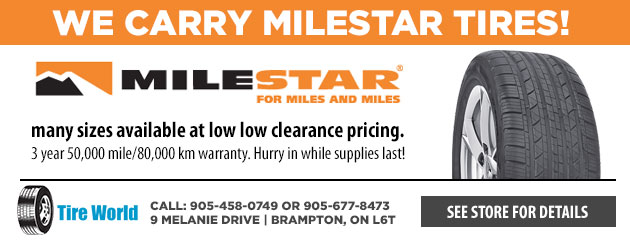 We carry Milestar tires!