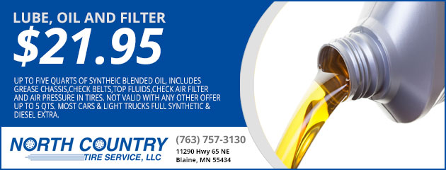 Lube, Oil and Filter $21.95