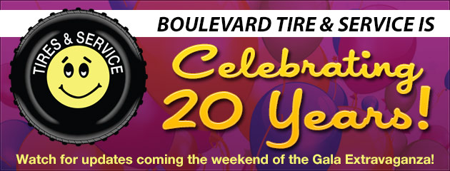 Boulevard Tire and Service is Celebrating 20 Years!