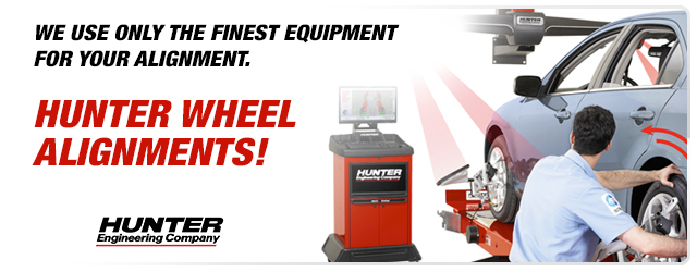 Hunter Wheel Alignments Now Available!