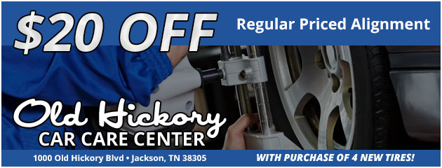 $20 off regular priced alignment with purchase of 4 new tires!