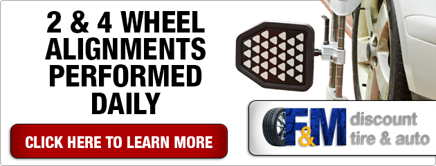 2 & 4 Wheel Alignments Performed Daily
