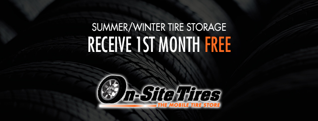 Summer/Winter Tire Storage - Receive 1st month free