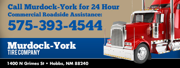 Call Murdock-York for 24 Commercial Roadside Assistance: (575) 393-4544