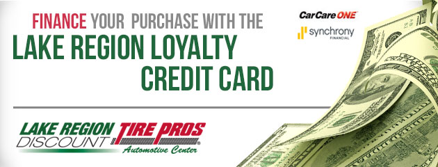 Finance With Our Lake Region Loyalty Credit Card