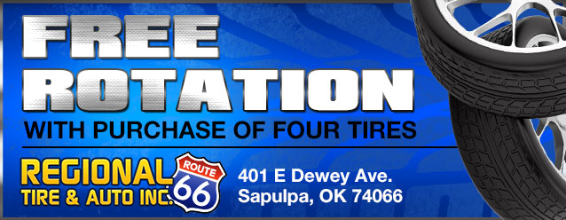 Free rotation with purchase of four tires