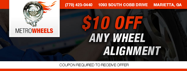 $10 OFF ANY WHEEL ALIGNMENT