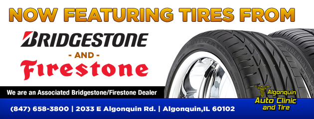 Now Featuring Bridgestone & Firestone Tires!