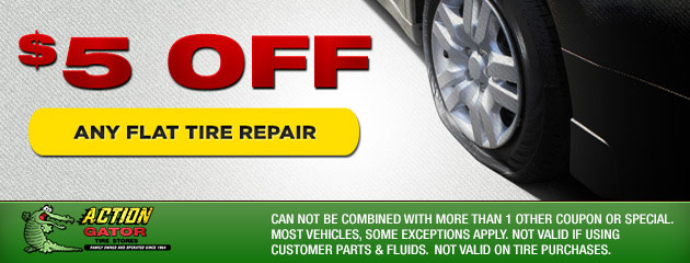 $5 Off Flat Tire Repair