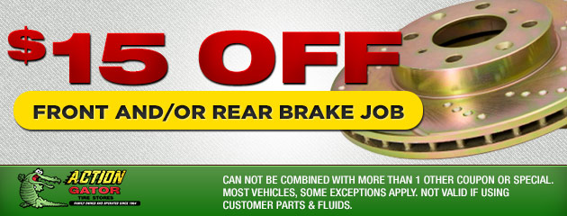 $15 off Front/Rear Brake Job