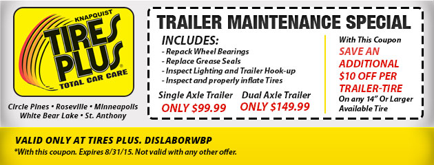 Trailer Maintenance Special