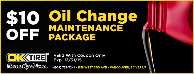 Oil Change: $10 off