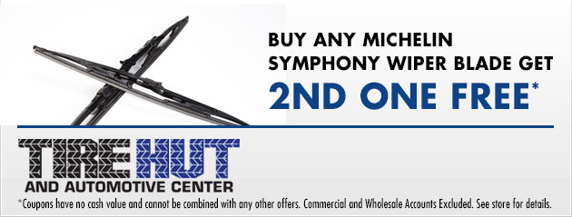 Buy any Michelin Symphony Wiper Blade get 2nd one Free