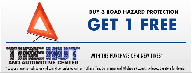 Buy 3 Road Hazard Protection and get 1 Free