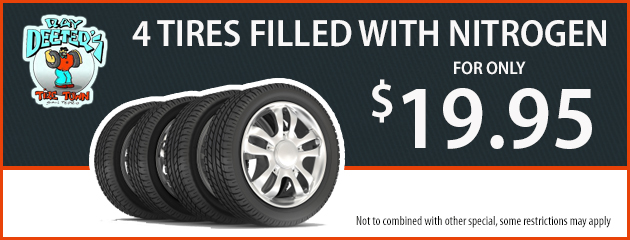 4 Tires filled with Nitrogen for Only - $19.95