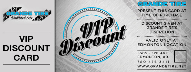 Vip tire discount coupons