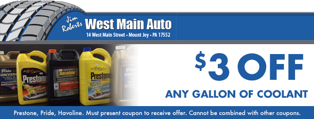$3 off any Gallon of coolant