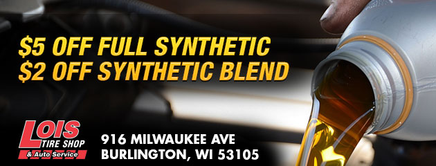 $5 off Full Synthetic / $2 off Synthetic Blend