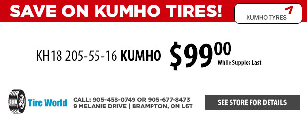 Save on Kumho KH18 205-55-16 Tires!