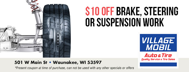 $10 off Brake, Steering or Suspension Work