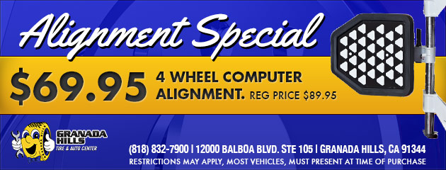 $69.95 FOR A 4 WHEEL COMPUTER ALIGNMENT