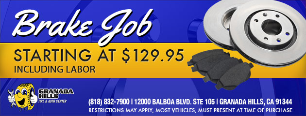 BRAKE JOB INCLUDING LABOR STARTING AT $129.95