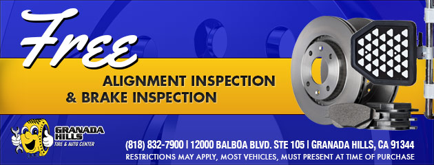 FREE ALIGNMENT AND BRAKE INSPECTION