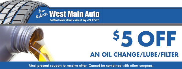 $5 off any oil change service