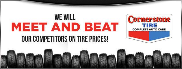 We will meet and beat our competitors on tire prices!