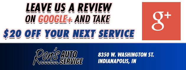 Leave us a review on Google+ and take $20 off your next service
