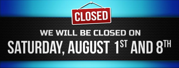 Closed Saturday, July 11th