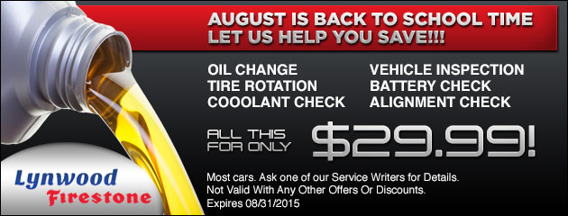 August Service Special!