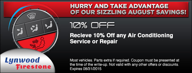 A/C Service and Repair Special