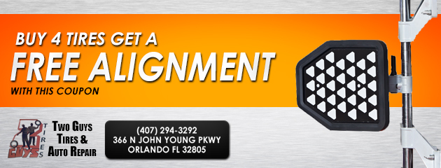 Buy 4 tires get a free alignment